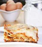 Meat lasagna Stock Images