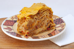 Meat lasagna Stock Photography
