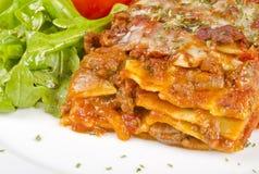 Meat Lasagna Closeup #1 Royalty Free Stock Photo