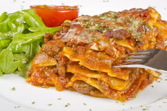 Meat Lasagna Closeup #2 Royalty Free Stock Images