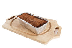 Meat loaf in baking tray Royalty Free Stock Photography