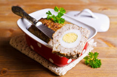 Meat Loaf with boiled egg Royalty Free Stock Photography