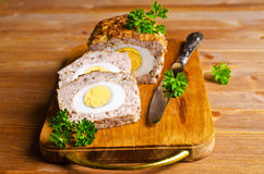 Meat Loaf with boiled egg Royalty Free Stock Image