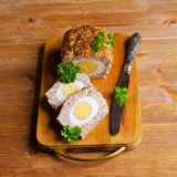 Meat Loaf with boiled egg Royalty Free Stock Images