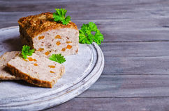 Meat Loaf with carrots Stock Photo