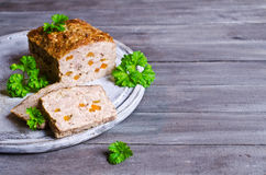 Meat Loaf with carrots Stock Photography