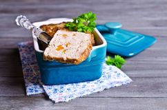 Meat Loaf with carrots Stock Images