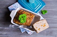 Meat Loaf with carrots Royalty Free Stock Photography