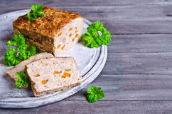 Meat Loaf with carrots Royalty Free Stock Image