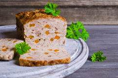 Meat Loaf with carrots Stock Photos
