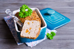 Meat Loaf with carrots Royalty Free Stock Images
