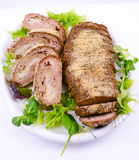 Meat loaf with cheese Royalty Free Stock Photography