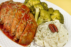 Meat Loaf Dinner Royalty Free Stock Photos
