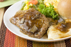 Meat loaf dinner closeup Royalty Free Stock Image