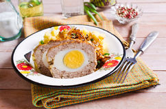 Meat Loaf with egg Stock Image