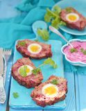 Meat loaf with eggs Stock Photo