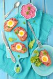 Meat loaf with eggs Stock Images