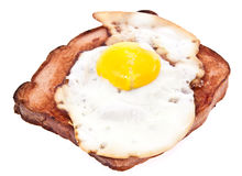 Meat loaf with fried egg on top Royalty Free Stock Photo