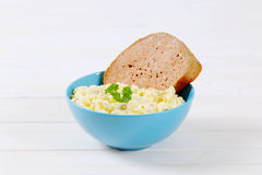 Meat loaf with potato salad Royalty Free Stock Images