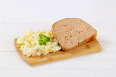 Meat loaf with potato salad Stock Photography