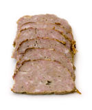 Meat Loaf Slices. Six Meat Loaf Slices on a white background Stock Images
