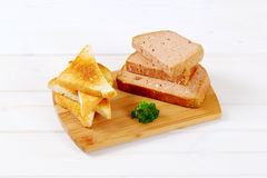 Meat loaf with toasts Royalty Free Stock Image