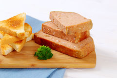 Meat loaf with toasts Stock Photos