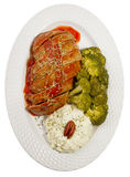 Meat Loaf Top View Royalty Free Stock Images