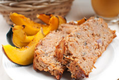 Meat loaf and vegetables close-up Stock Photo