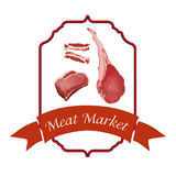 Meat logos set,vector illustration Stock Photos