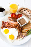 Meat Lover's Breakfast Royalty Free Stock Photography