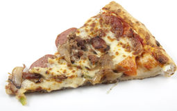 Meat lovers slice of pizza Royalty Free Stock Photo
