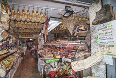 Meat Market in Florence Italy Stock Images