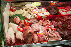 Meat market Stock Photos