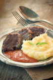 Meat with mashed potatoes Stock Photography