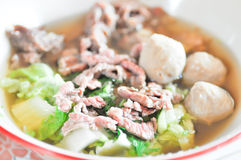 Meat, meatball and  vegetable soup Royalty Free Stock Photos