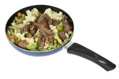 Meat med grönsaker Fotografering för Bildbyråer