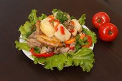 Meat med grönsaker Royaltyfria Foton