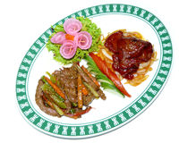 Meat menu chinese cuisine Royalty Free Stock Images
