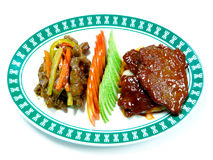 Meat menu chinese cuisine Stock Photo