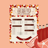 Meat menu Royalty Free Stock Photography