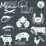 Meat menu Royalty Free Stock Photos