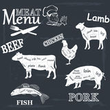 Meat menu Stock Image