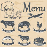 Meat menu Stock Images