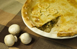 Meat and mushroom pie Royalty Free Stock Images
