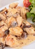Meat with mushroom sauce Royalty Free Stock Images