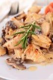 Meat with mushroom sauce Stock Photo