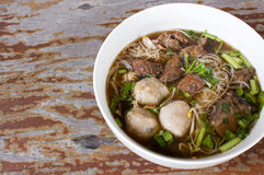 Meat Noodle. Beef and meat ball with noodle. Stock Photography