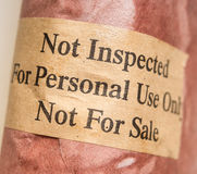 Meat not inspected. Ground beef meat not inspected Royalty Free Stock Photos