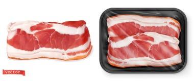 meat Ny biff i packen Realistisk vektor f?r mat 3d royaltyfri illustrationer